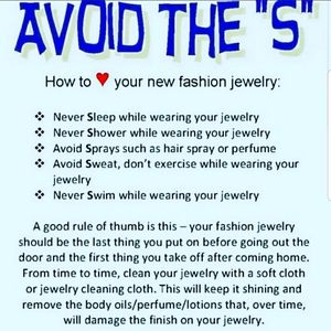 💍Jewelry Care Instructions 💍